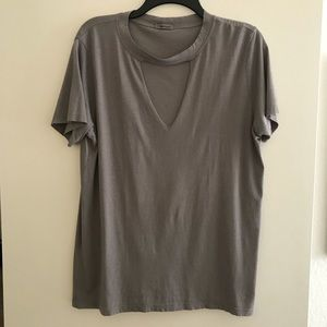 LAmade Grey Cutout Tee